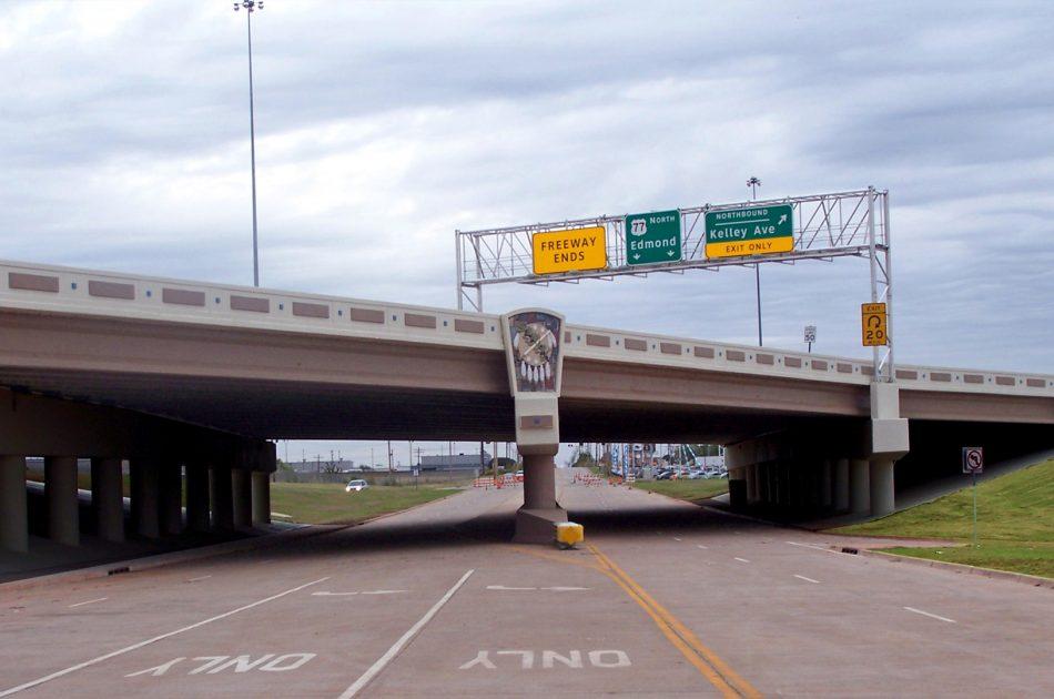 Broadway Extension at Memorial Road Interchange