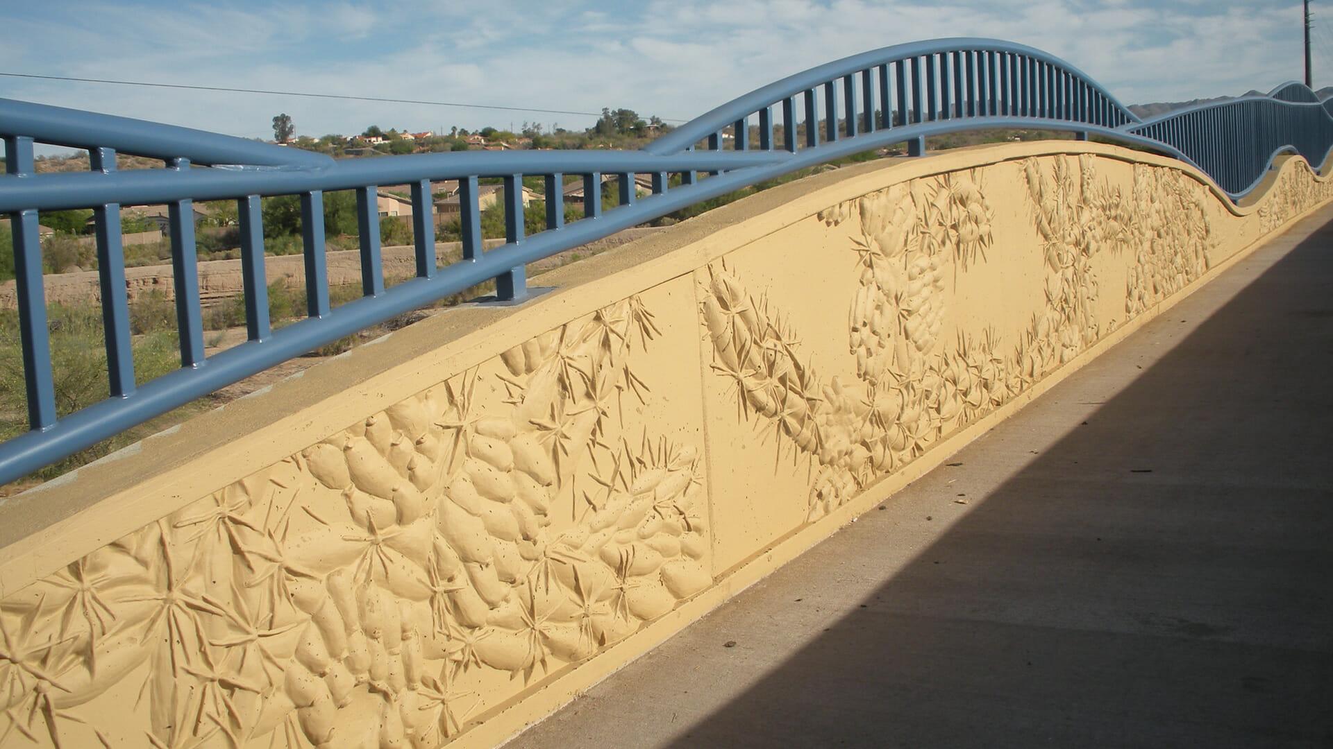 La Cholla Boulevard Bridge Concrete Form Liners
